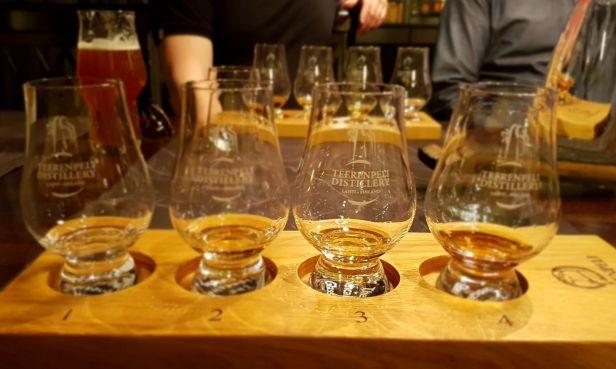 Viski tasting neljä makua